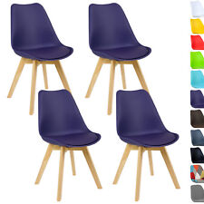 4er Set Esszimmerstühle Design Esszimmerstuhl Küchenstuhl Holz Lila BH29la-4