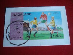 NAGALAND (INDIA) - 1972 FOOTBALL - MINISHEET UNMOUNTED USED MINIATURE SHEET