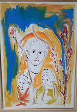 Ernesto TRECCANI (Milano 1920-2009) volti su tela cm 70x50  bellissima cornice
