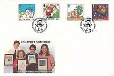 (90510) GB FDC Isle of Man FDC Bambini Natale 2 novembre 1996
