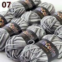AIP New 8Skeinsx50g Soft Colorful DK Baby Cotton Crochet Yarn Hand Knitting 07