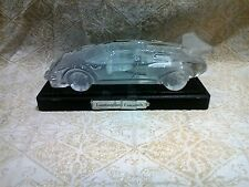 Hofbauer 'Lamborghini Countach' Lead Cut Crystal Glass Car Paperweight