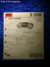 Sony Service Manual D 5500 CD Player (#0146)