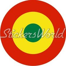 """BOLIVIA Bolivian Air Force Aircraft Roundel 100mm (4"""") Sticker Decal"""