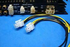 ALPINE 2 4-PIN PLUGS AMPLIFIER AMP SPEAKER WIRE HARNESS OUTPUT PLUG S US SELLER