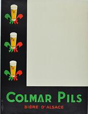 Affiche ancienne entoilée - Bières - Colmar pils -