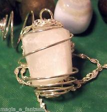 Collana con SELENITE cristalloterapia zen chakra mineral argento pietre unisex