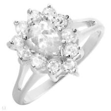 GORGEOUS SOLID 925 STERLING SILVER CLUSTER STYLE RING SIZE 5