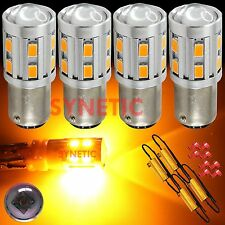 4X 1157 High Power CREE 5630 Amber/Yellow Turn Signal LED Light Bulbs+4Resistors
