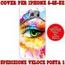 Back cover custodia gel silicone tpu per apple iphone 5-5S-SE occhio colorato