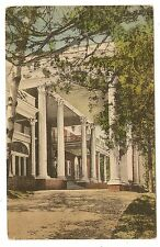 VINTAGE HAND COLORED VIEW POSTCARD THE MIMSYLN HOTEL ENTRANCE LURAY VIRGINIA VA