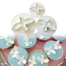 3pcs Pigeon Fondant Cake Cookies Cutter Decorating Craft Baking Tools Mold 17w