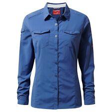 Craghoppers Womens Nosilife Adventure Long Sleeved Shirt 14 Soft Denim Cws434 39i14l