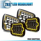 4x 45w 7x6 5x7 Led Headlight Hi-lo Drl For Jeep Xj Yj Chevrolet Gmc Toyota