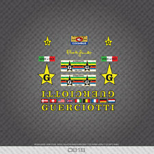 0818 Guerciotti Bicycle Stickers - Decals - Transfers - Yellow/Black