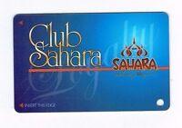 SAHARA Las Vegas Casino Hotel SLOT CARD / Players Club Card - BLANK  / Unused
