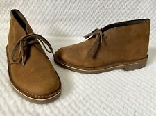Clarks Chukka Desert Lace-up Ankle Brown Suede Leather Boots Womens Size 8 VGUC