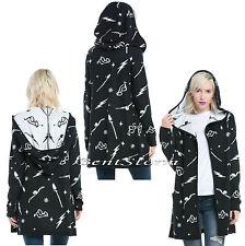 Harry Potter Symbols Open Hooded Flyaway Cardigan Sweater w/ Pockets JRS. S-M