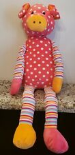 "CS INTERNATIONAL Jumbo PIG 37"" Pillow 3 Feet Tall Plush Stripes Pink Polka"
