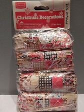 Vintage 1970s Sears Roebuck Made In Japan Christmas Garland Decorations Patches