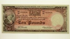 1960 Ten Pounds Coombs / Wilson Banknote in Uncirculated Condition