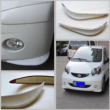 2 Pcs Car  Bumper Anti-rub Universal White Streamline Cover Protector Sticker