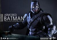 Hot Toys Armored Batman Dawn of Justice -Black Chrome Version Sideshow NEW N BOX