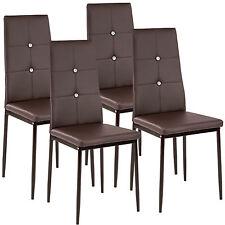 Kit de 4 sillas de Comedor Cocina Juego Diseño Moderno Piel Sintética Marrón