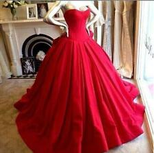 Plus Size Color Red Ball Gown Gothic Custom Make Wedding Dresses Bridal Gowns