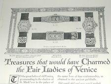 1920 GRUEN Watch advertisement page, Gruen Guild lady's Wrist Watches