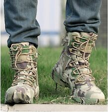 Men's Camouflage Military Combat Boots Army Wilderness Survival Shoes Outdoor