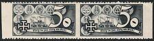 Österreich 1938 Schuschnigg Vignette 50 Groschen Grauschwarz Paar postfrisch DB