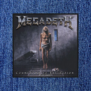 MEGADETH - COUNTDOWN TO EXTINCTION (NEW) SEW ON PATCH OFFICIAL BAND MERCH