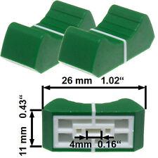 NEU 2 Prof Faderknopf GRUEN 4mm Fadercaps Faderkappen Caps  Mischpulte Mixer
