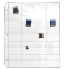 StoreSMART  Binder Pages w Flaps for Flash Drives/Memory 100Pk  VH1173F-100