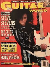 Guitar World Magazine Oct 1989 Steve Stevens, Anthrax, Thrash, Richie Sambora