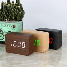 LED Wooden Clock Digital Alarm Clocks Desktop Table Clocks Voice Control Home