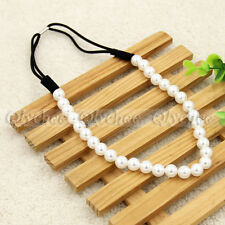 Fashion Girls Korean Style Charming Pearl Ribbon Hair Hoop Hair Band Headband 1p