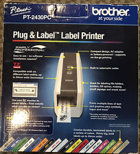 Brother Pt 2430pc Portable Thermal Label Printer With Auto Cutter Excellent