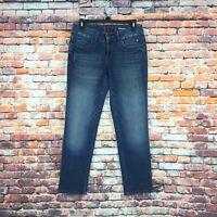 Elle Womens Size 2 Skinny Boyfriend Dark Wash Denim Jeans