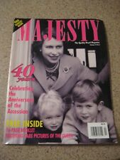 Majesty Magazine 1992 Rare pictures of the Queen-16-Page Booklet /Princess Diana