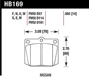 Hawk Performance HB169U.560 Unbeatable Pad And Rotor Wear Disc Brake Pads
