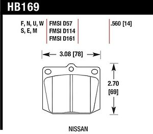 Hawk Performance HB169U.560 Unbeatable Pad And Rotor Wear Disc Brake Pads