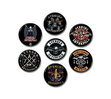 7 x AVENGED SEVENFOLD band buttons! (badges, pins, 25mm, patches, heavy metal)