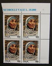 1998  Italia Quartina Madre Teresa  900 lire   MNh**