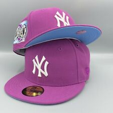 New York Yankees 2000 Subway Series New Era 59FIFTY Purple Hat Sky Blue Bottom