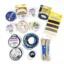 Lot of Jewelry Making Cord Leather Hemp Illusion Assorted Sizes NEW