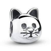 Wostu European S925 Sterling Silver Animal Charm Curious Cat Fit Bracelets Chain
