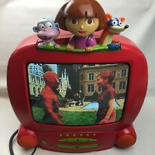 "Dora The Explorer 14"" CRT TV Television, Red, Retro Gaming Display, Kids Bedroom"