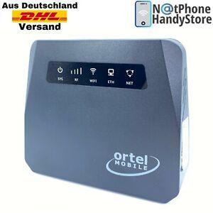 Mobiler WiFi Router Surfen 4G LTE Wireless W-Lan Hotspot Alle SIM Karten Schwarz